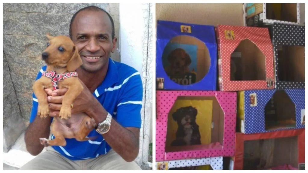 Ремесленник уже сделал тысячу бесплатных домиков для брошенных собак
